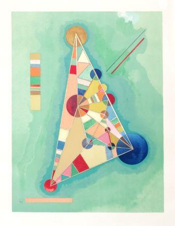 Lithograph Kandinsky - Bigarrure dans le triangle