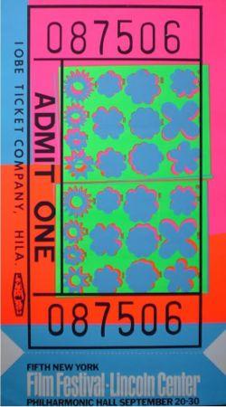 Screenprint Warhol - Biglietto Lincoln Center (FS II.19)
