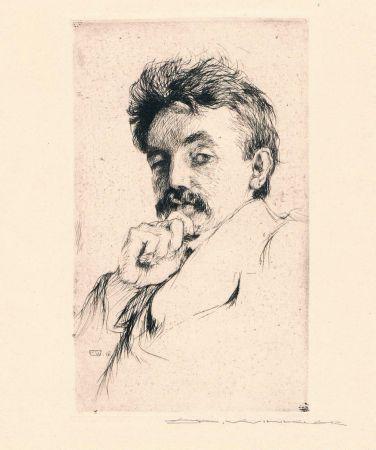 Etching Winkler - Bildnis Dr. Z (Portrait Of Dr. Z)