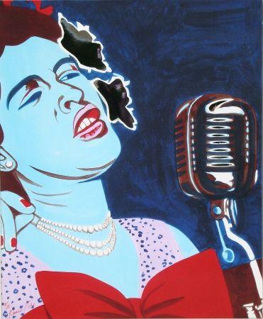 Screenprint Rancillac - Billie Holiday