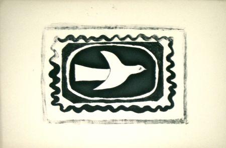 Lithograph Braque - Bird VII