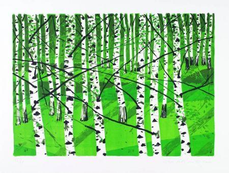 Lithograph Muller - Birkenwäldchen