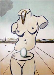 Lithograph Dali - Birth of Venus
