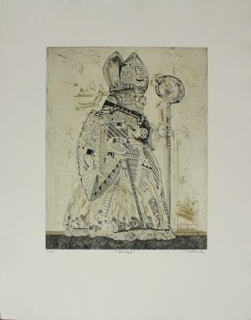 Etching And Aquatint Dittrich - Bischof / Bishop