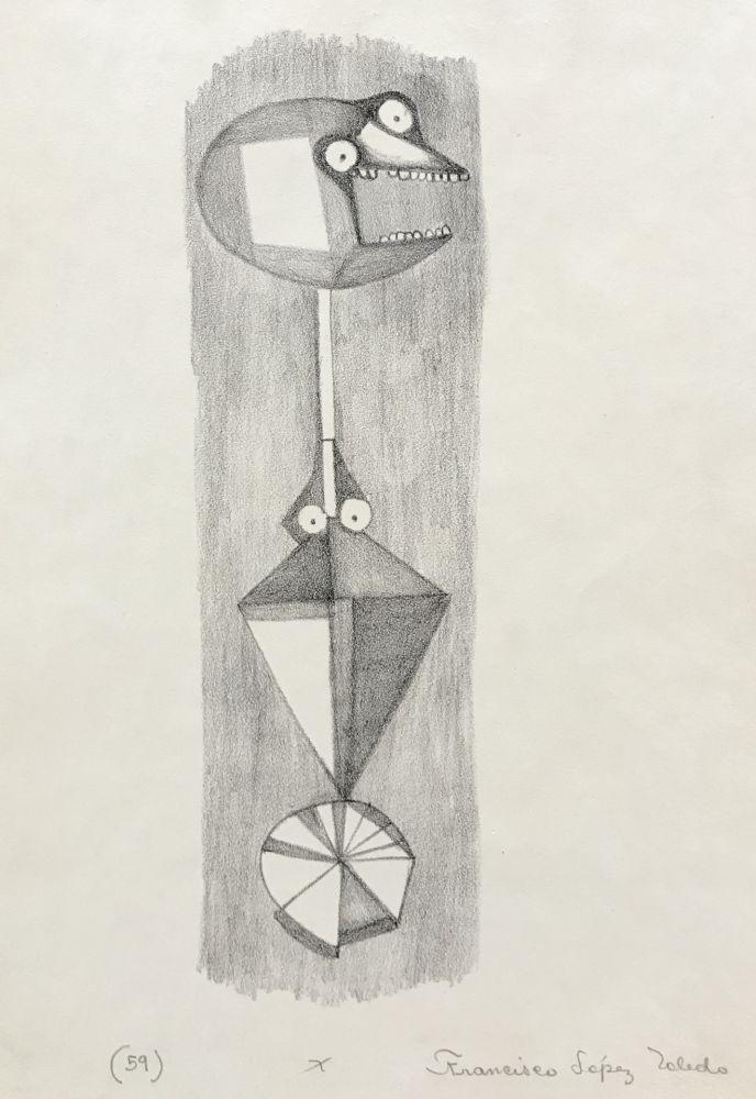 Lithograph Toledo - Black and White Study