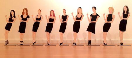 No Technical Katz - Black Dress Cutouts (Set Of 9)