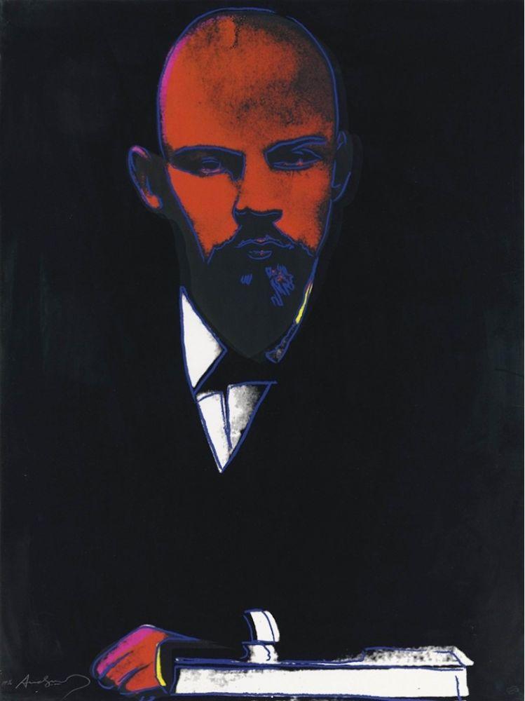 Screenprint Warhol - Black Lenin (FS II.402)