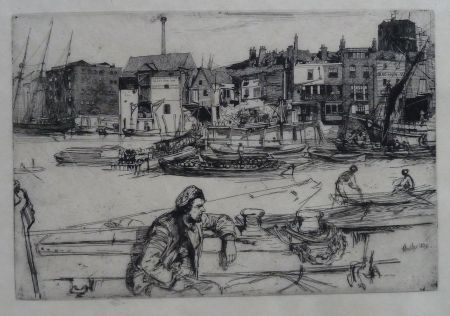 Etching Whistler - Black Lion Wharf