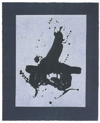 Lithograph Motherwell - Black on Black