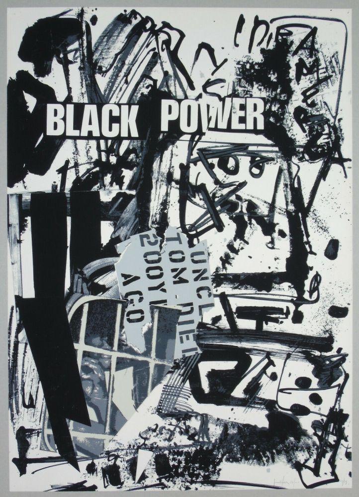 Lithograph Vedova - Black power