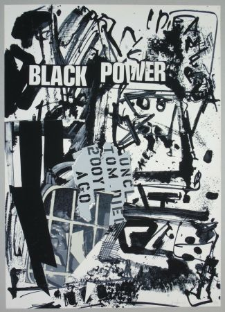 Lithograph Vedova - Black power
