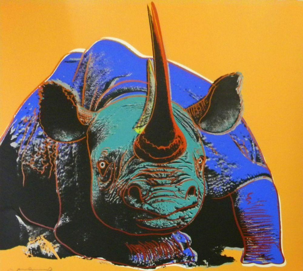 Screenprint Warhol - Black Rhinoceros (FS II.301)