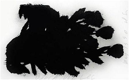 Screenprint Sultan - Black Roses