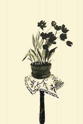 Lithograph Hockney - Black Tulips (1980)