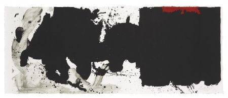 Lithograph Motherwell - Black With No Way Out