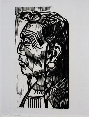 Woodcut Drewes - Blackfoot