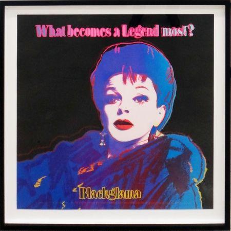 Screenprint Warhol - Blackglama (Judy Garland from Ads portfolio)