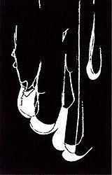 Lithograph Blais - Blanc sur noir 1