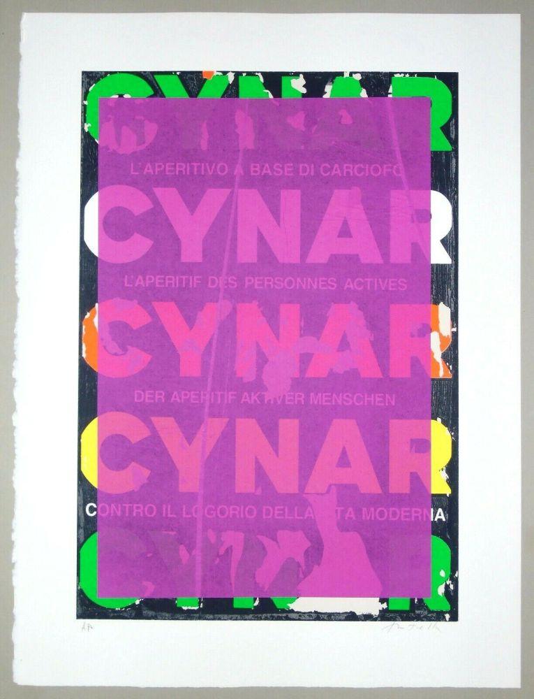 Screenprint Rotella - Blank Cynar (fucsia)
