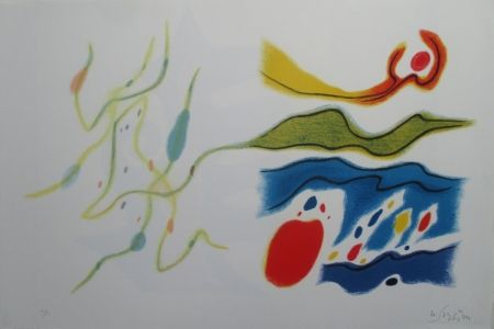 Lithograph Singier - Blason du corps blessé