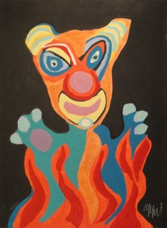 Woodcut Appel - Blatt der Folge Circus / Cirque, Soleil du Monde