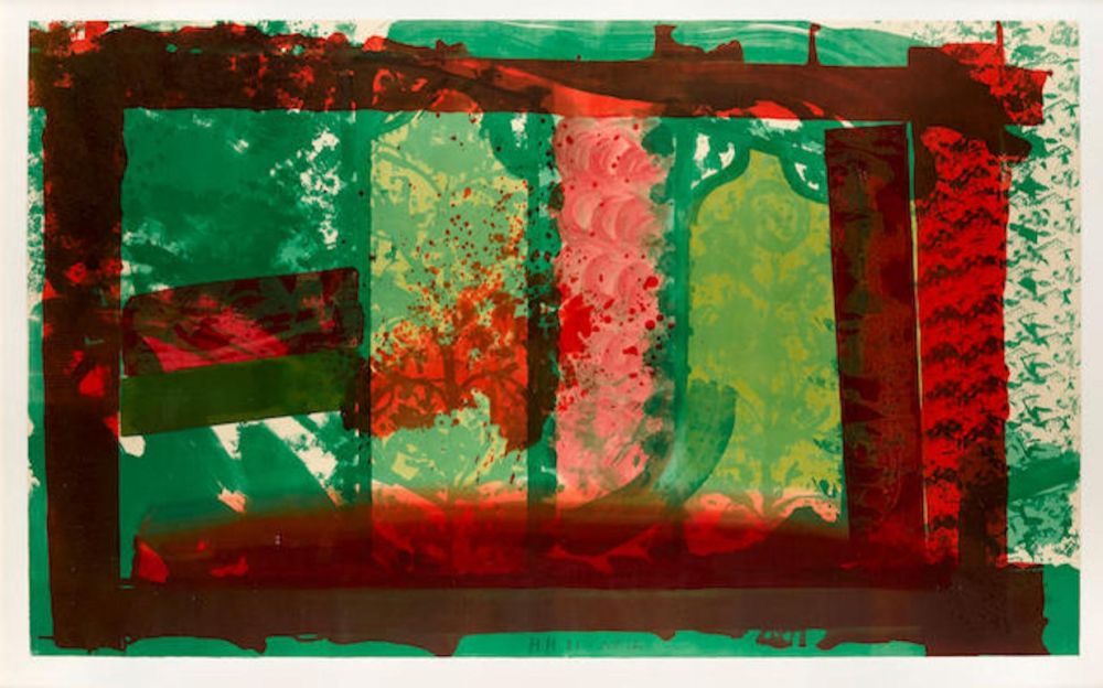 Lithograph Hodgkin - Bleeding
