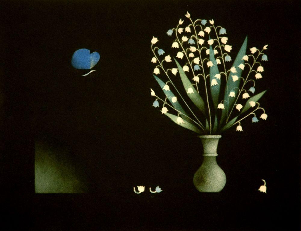 Mezzotint Avati - Bleu, le pappilon