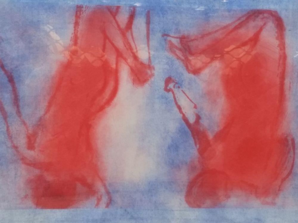 Lithograph Garache - Bleue 1V