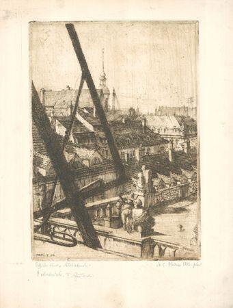 Engraving Philipp - Blick durchs Atelierfenster
