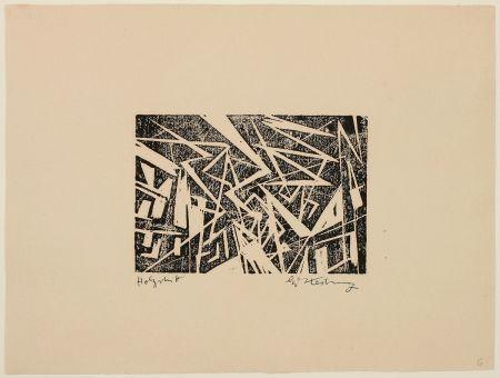 Woodcut Kesting - Blitze (Lightning)