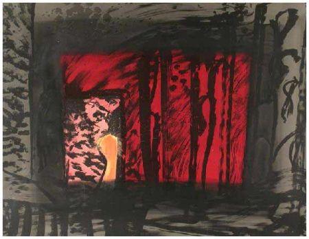 Lithograph Hodgkin - Blood, 1983