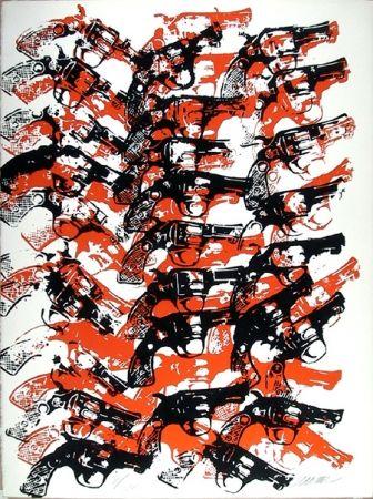Screenprint Arman - Bloody Guns