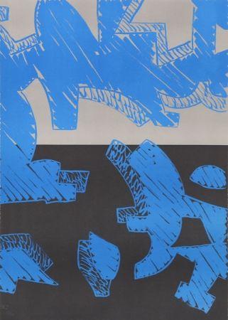 Lithograph Accardi - Blu