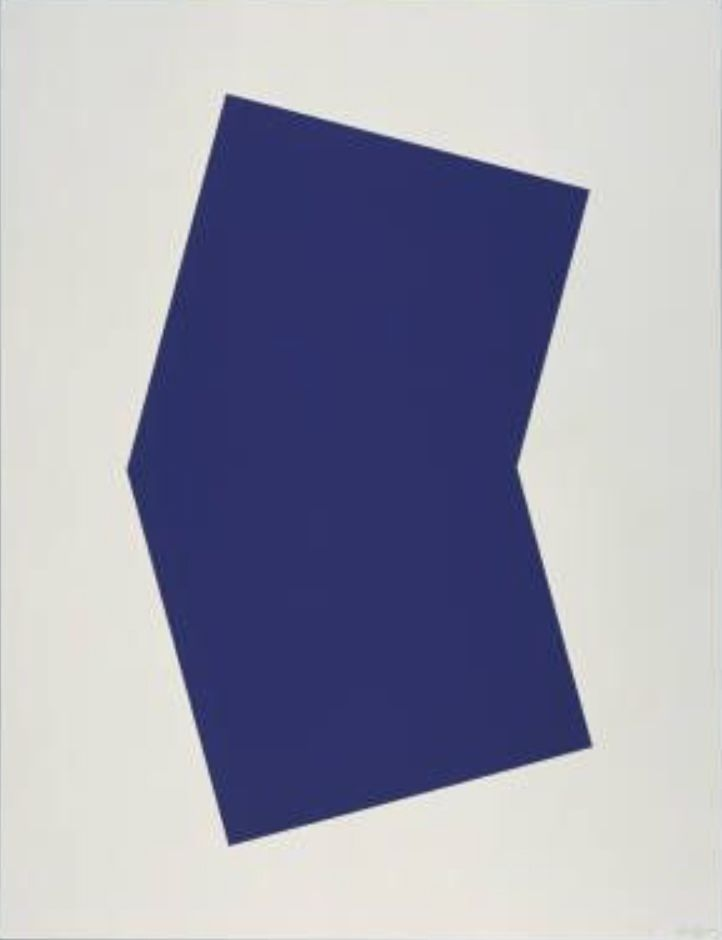 Lithograph Kelly - Blue