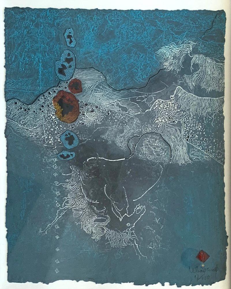 Etching And Aquatint Lebadang - Blue Abstract