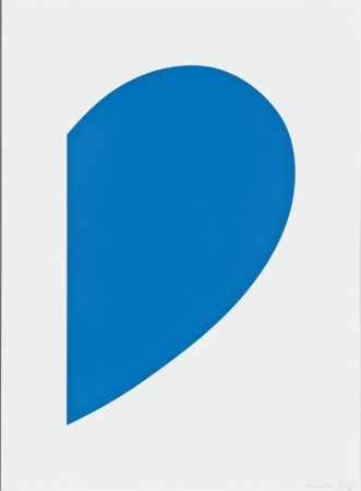 Lithograph Kelly - Blue Curve