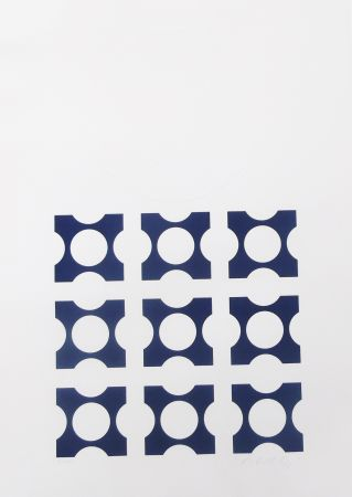 Lithograph Vasarely - Blue from Album I suite