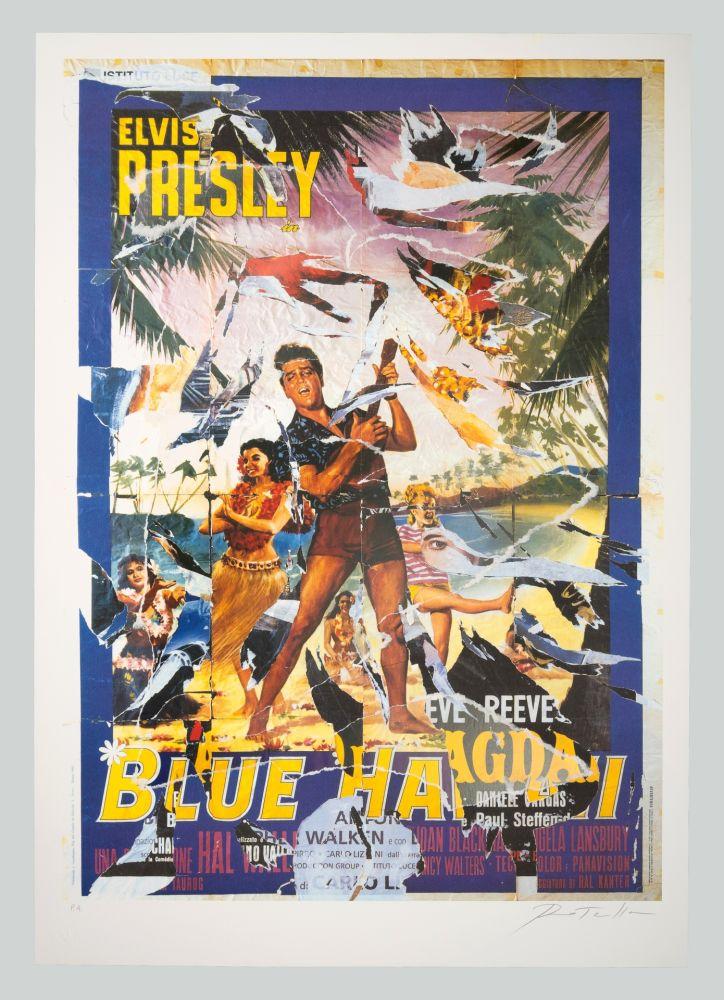 Screenprint Rotella - Blue Hawaii