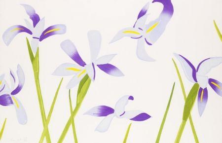 Woodcut Katz - Blue Irises