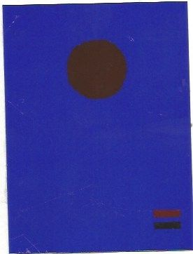 Screenprint Gottlieb - Blue night