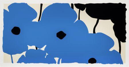 Screenprint Sultan - Blue Poppies