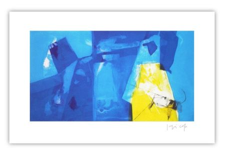 Etching Capa - Blue space with yellow