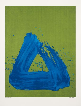 Screenprint Verdier - Blue Spirit
