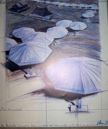 Offset Christo - Blue umbrellas