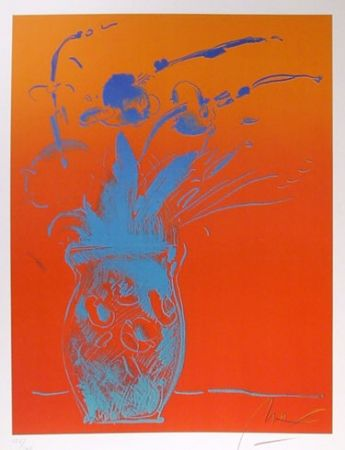 Lithograph Max - Blue Vase