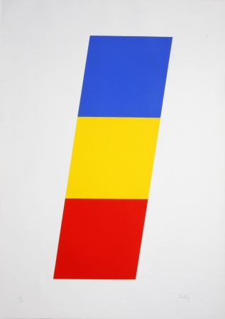 Lithograph Kelly - Blue Yellow Red