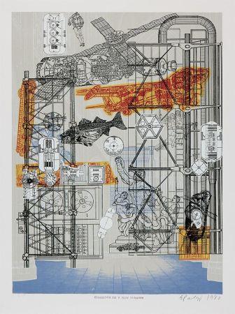 Screenprint Paolozzi - Blueprints for a New Museum