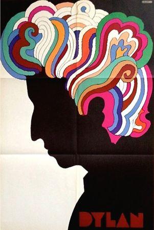 Lithograph Glaser - Bob Dylan