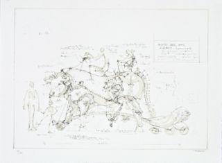 Lithograph Delarozière - Boeuf De Manège
