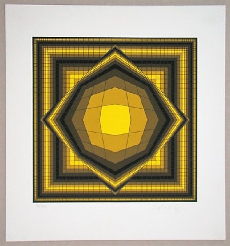 Screenprint Vasarely - Boréal